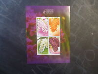 2010 THAILAND ORCHIDS 4 STAMP MINI SHEET MNH ROYAL ORCHID PARADISE SHOW
