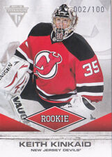 11-12 Titanium Keith Kinkaid /100 Rookie Spectrum Devils 2011