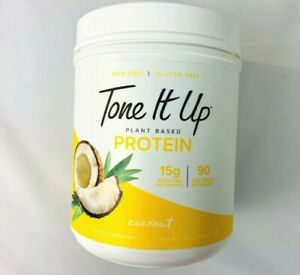 Tone It Up Plant Based Protein Drink Mix  Coconut 11.36 oz. Best By 07/2021