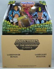 MASTERS OF THE UNIVERSE CLASSICS LASER POWER HE-MAN LASER LIGHT SKELETOR NEW!!