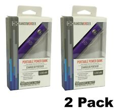 2 PACK Random Order 3200mAh Portable Power Bank 2.1A Output USB for Phone Tablet