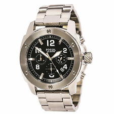 Fossil FS4926 Gent's Chrono Black Dial Steel Bracelet Quartz Watch