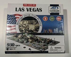 The City of Las Vegas 4D Cityscape History Over Time Puzzle NIB 930 Pcs Ages 8+