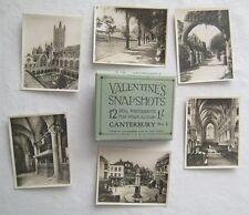 12 Real Photographs For Your Snap Shot Album Canterbury No 2 England Valentines