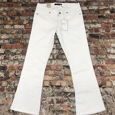 NEW Levi's Jeans Girls/ Women's size 7 White Denim flare stretch Jeans