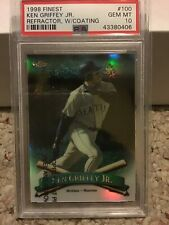 1998 Finest Ken Griffey Jr #100 Refractor With Coating PSA 10