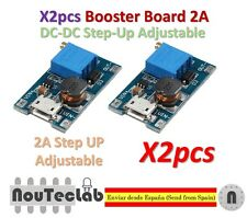 2pcs 2A Booster Board Micro USB DC-DC Step-up 2/24V to 5/9/12/28V Replace XL6009