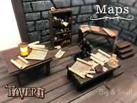 Map 10 Pack for D&D Pathfinder 100% Handmade Scatter Terrain Tavern Miniatures
