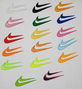 Embroide Nike Sports badge   clothes t shirts  Iron Sew on Patch logo set