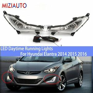 2pcs LED DRL Daytime Running Lights Fog Lights For Hyundai Elantra