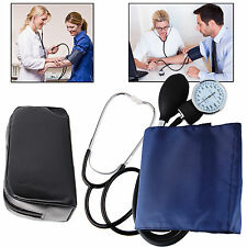Pressure Monitor Nylon Cuff Manual Sphygmomanometer Stethoscope BP Kit Eb05