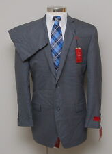NWT Mens 44L Slim Alfani RED 2 Piece Grey Suit