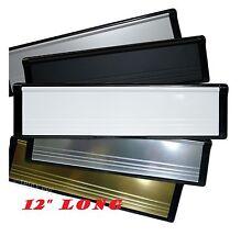 """Double Face 12/"""" Lettre Plaque Post Box W brosses PVC Porte Blanc Argent Or"""