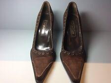 Women's brown suede Sergio Rossi heels size 38.5