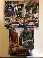 2020 Marvel Titan Hero Series Spiderman Maximum Venom Bundle Cap/Hulk/iron Man