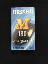 Nueva cinta VHS en blanco Nueva codificación 3 hrs e 180 M cinta de alimentación Mega Maxwell