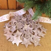 Natural Birch Bark Glitter Stars 6 cm Home Craft Wedding Christmas Table 20 & 40