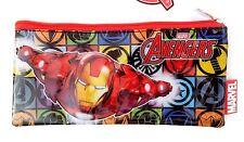 Marvel Comics Avengers Assemble Iron Man Boy's Kids Graphic Pencil Case NWT