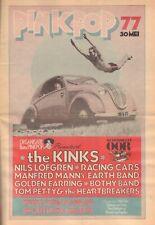 MUZIEKKRANT OOR 1977 PINKPOP KRANT - KINKS/GOLDEN EARRING/NILS LOFGREN/TOM PETTY