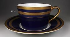 """CHRISTIAN DIOR GAUDRON LAPIS CUP & SAUCER SET  2 1/4""""  NEW"""