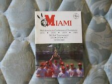 1984 MIAMI REDSKINS BASEBALL MEDIA GUIDE Yearbook 1983 MAC CHAMP! Ohio NCAA AD