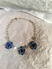 Gold Chain Necklace New Blue Statement