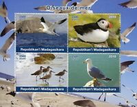 Madagascar 2018 MNH Sea Birds Puffins Gannets Gulls Seagulls 4v M/S Stamps