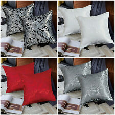 """Luxury Jacquard Cushion Covers 18"""" x 18 OR 23"""" x 23"""" Small & Large Cushions"""