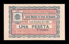 B-D-M España Billete Local Cuevas del Almanzora (Almería) 1 Peseta 1937 SC- aUNC