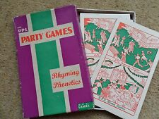 VINTAGE PARTY GAME NUMBER 84.PHONETICS. UNIVERSAL PUBLICATIONS  RULES & ANSWERS