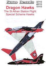 Euro Decals 1/48 DRAGON HAWKS St Athan Station Flight Special BAe Hawk Scheme