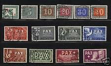 Switzerland 293-305,B145 used  catalog $895.00