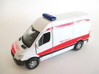 Mercedes Sprinter Notarzt Modellauto Metall 12 cm diecast Welly Model
