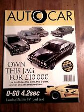AUTOCAR MAGAZINE 31-JUL-96 - Lamborghini Diablo SV, Daimler Century, Silver Spur
