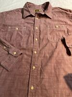 Foundry Men's Button Down/ Button Up Big & Tall 2XLT Red Long Sleeve Euc