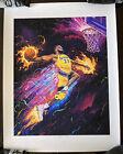 Lebron James #23/28 RARE Art Print Poster Los Angeles LA Lakers Space Jam 2 NBA
