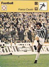 FOOTBALL carte joueur fiche photo FRANCO CAUSIO équipe JUVENTUS