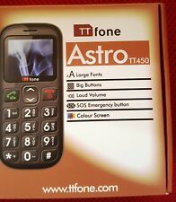 Ttfone Astro TT450 Big Button Candy Bar SIM Mobile Phone-Black