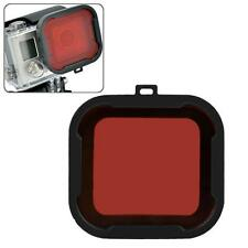 GOPRO 4 3+ RED STANDARD HOUSING GLASS FILTER SNAP ON UNDERWATER SEA SCUBA AQUA