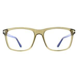 Tom Ford Glasses Frames FT5479-B 098 Dark Green Clear Blue Light Block