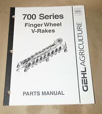 2003 Gehl Model 700 Series Finger Wheel V Rakes Service Parts Manual Pn 909923
