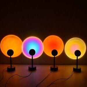 Rainbow Sunset Projection Lamp LED Modern Romantic USB Night Light Decoration AU