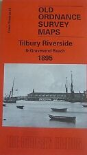 Old Ordnance Survey Map Tilbury Riverside & Gravesend Reach Essex 1895