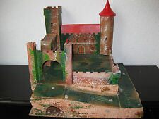 Alte Ritterburg ca. 1920-1945 mit Ritterfiguren Crescent Toy+MARX+Jean Hoeffler