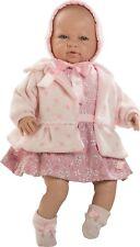 Berbesa - Recién nacida vestido y abrigo rosa, 52 cm caja (5205)