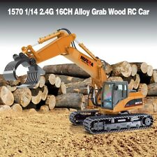 HuiNa Toys 1570 1/14 2.4G 16Ch Alloy Grab Wood Excavator Engineering Rc Car Rtr