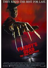 Freddy's Dead The Final Nightmare - Robert Englund - A4 Laminated Mini Poster