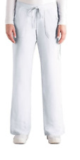 Grey'S Anatomy by Barco White Four Pocket Cargo Scrub Pants {4245P} Size Medium