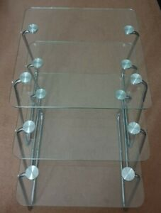Nest Of 3x Glass Tables