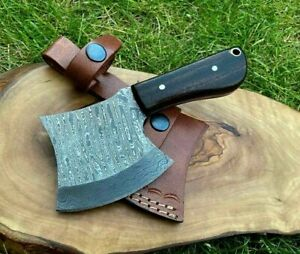 TITANs Handmade Damascus Steel Mini Axe Hunting Camping Crafts Gift 16.0cm X2-R